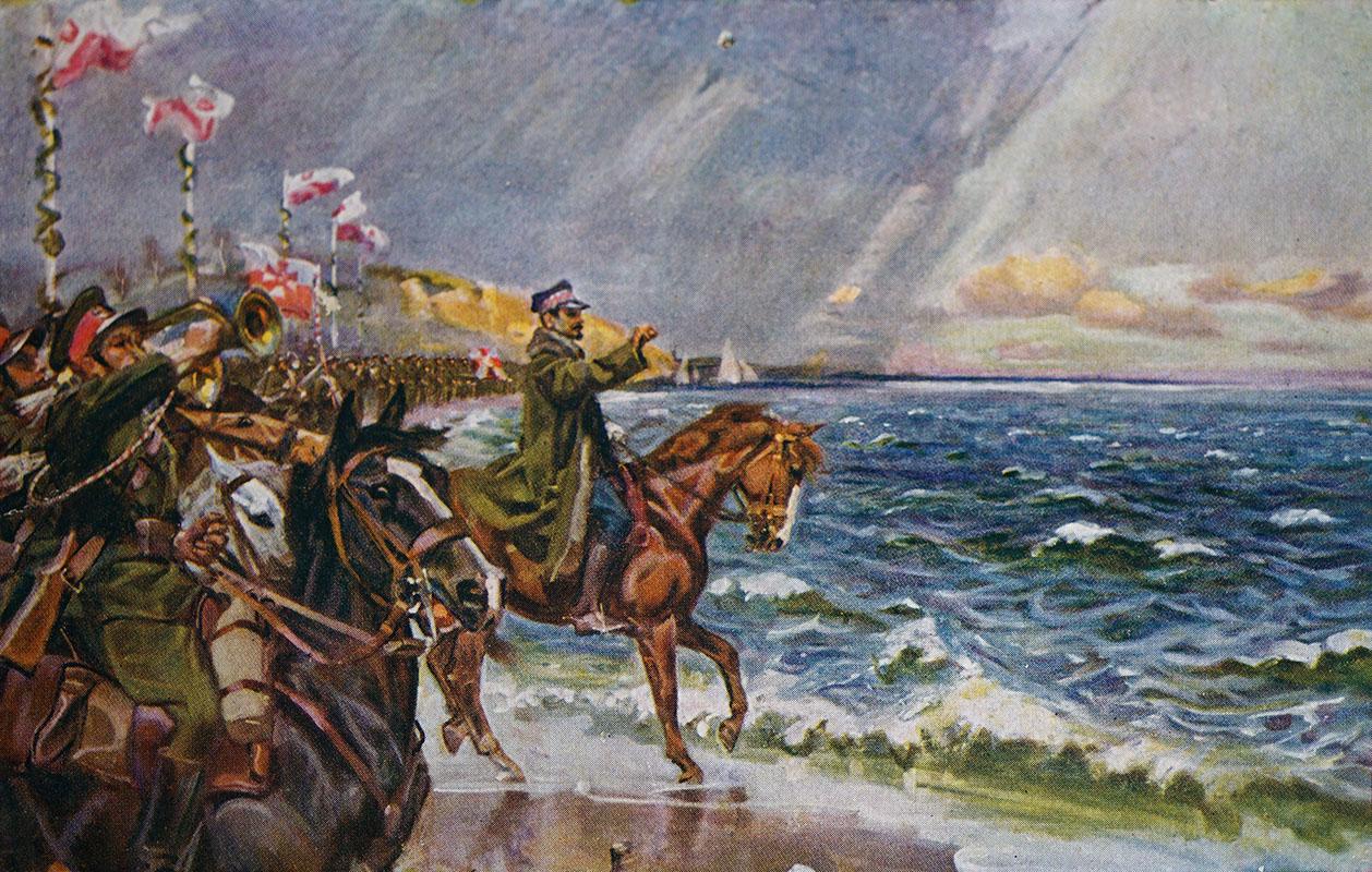 Gen. Józef Haller - zaślubiny Polski z morzem, obraz W. Kossaka